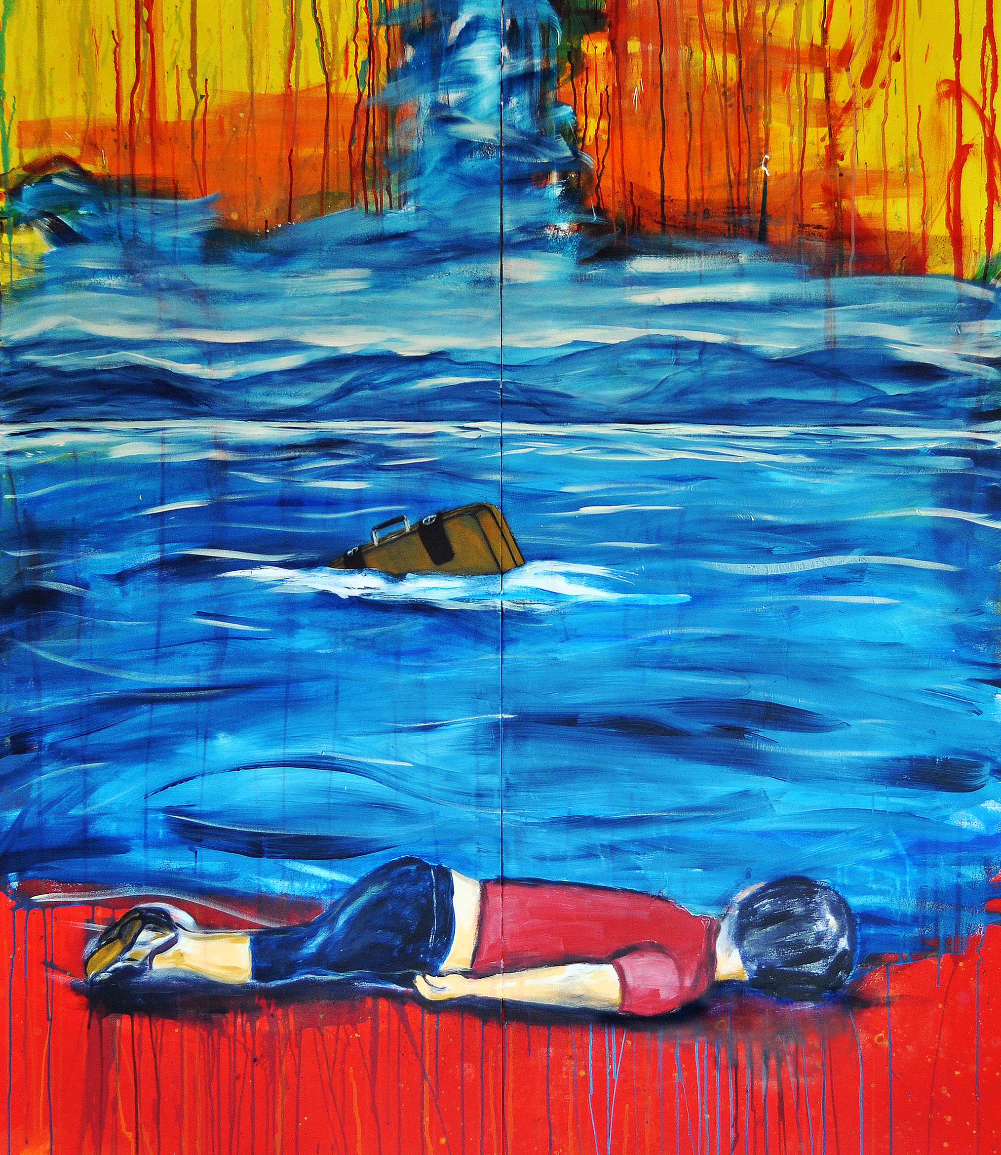 Ausstellung KRIEG EineWeltHaus - Alan Kurdi