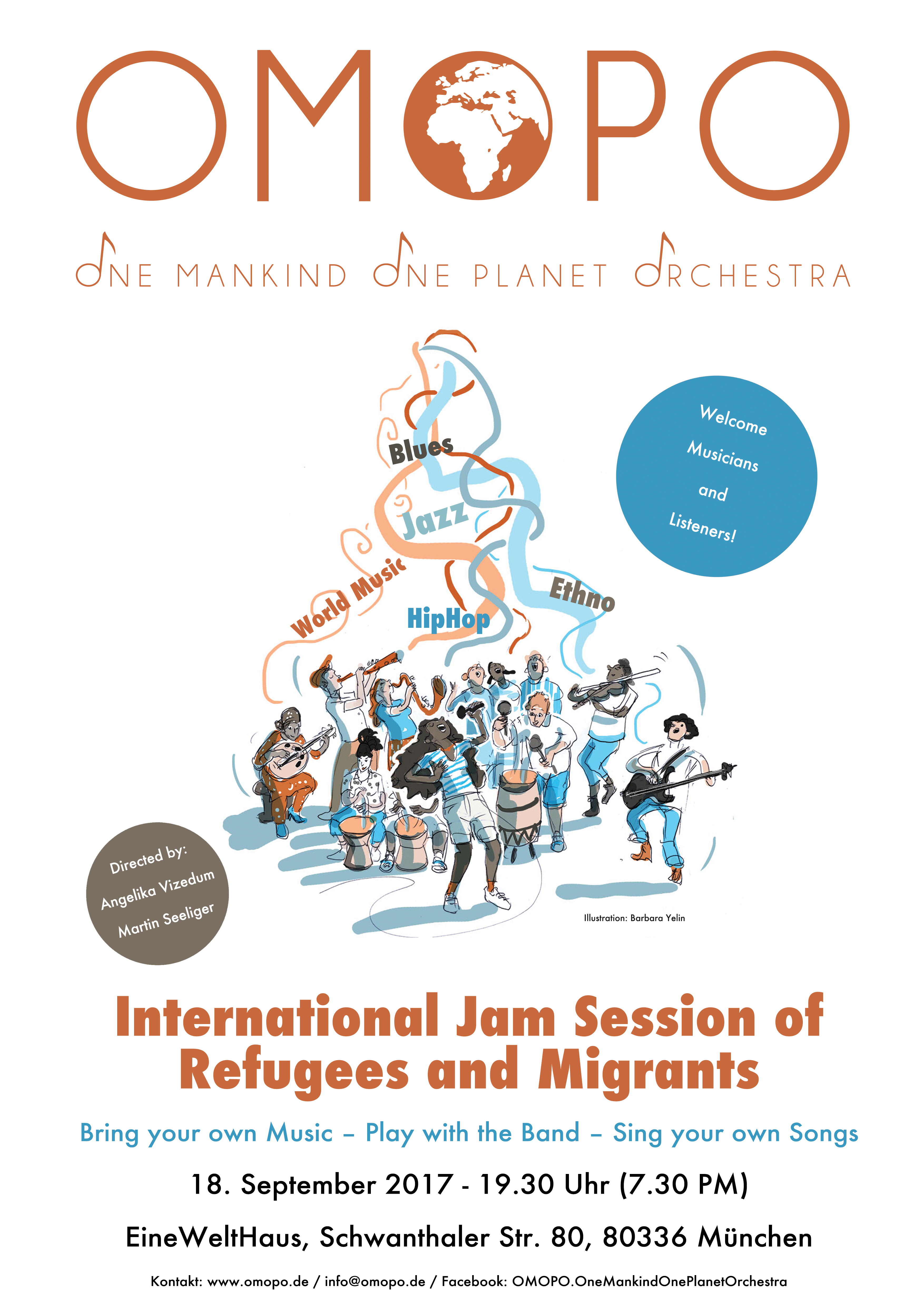 International Jam Session of Refugees and Migrants